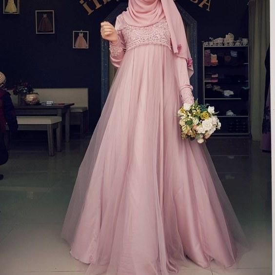 Contoh Gaun Pengantin Muslimah Warna Pink D0dg Sanyangmariam Sanyangmariam On Pinterest