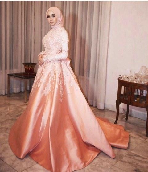 Contoh Gaun Pengantin Muslimah Warna Pink T8dj √ 18 Model Baju Pesta Muslim 2019 Edisi Gaun Pesta
