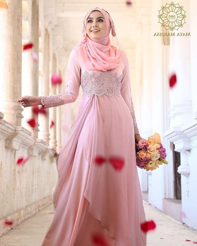 Contoh Gaun Pengantin Muslimah Warna Pink Y7du Diana Dress Dari Mayamarissa Tampil Anggun Dengan