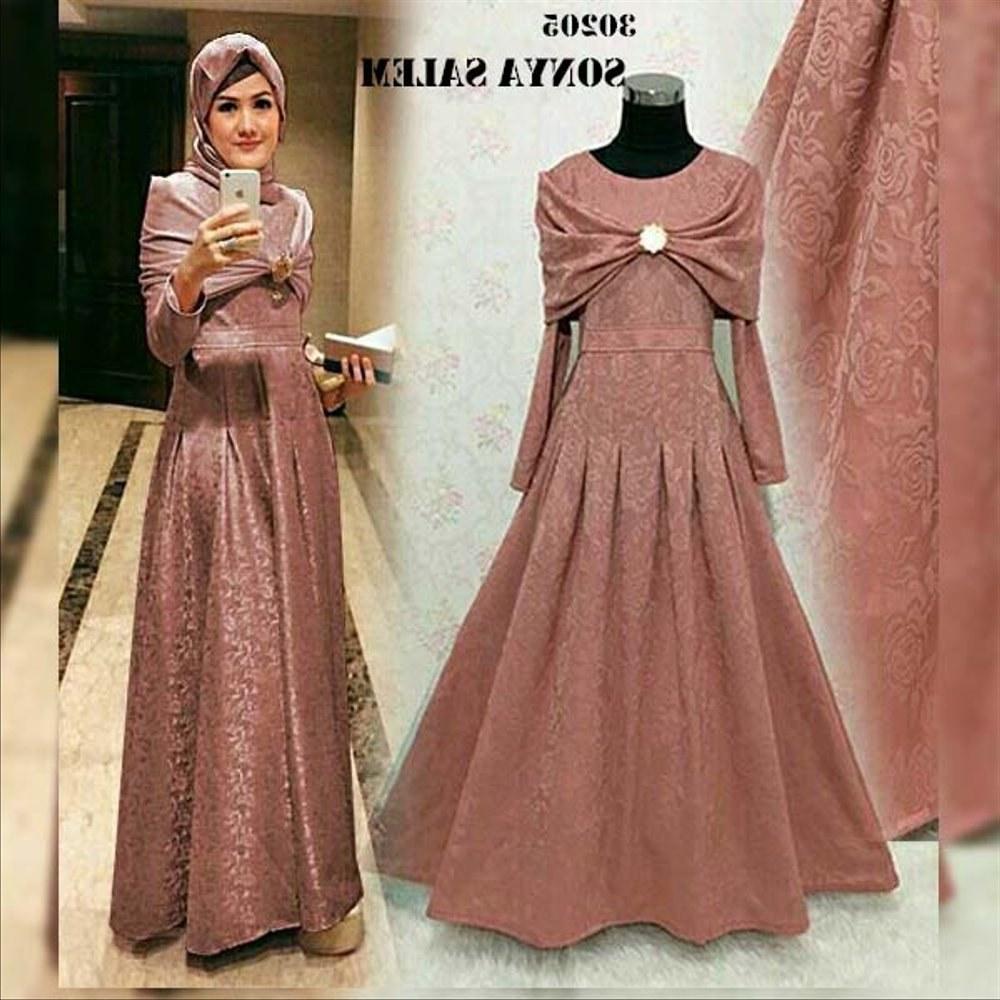 Design Baju Ke Pesta Pernikahan Muslimah 0gdr 38 Inspirasi Modis Baju Pesta Muslimah Velvet