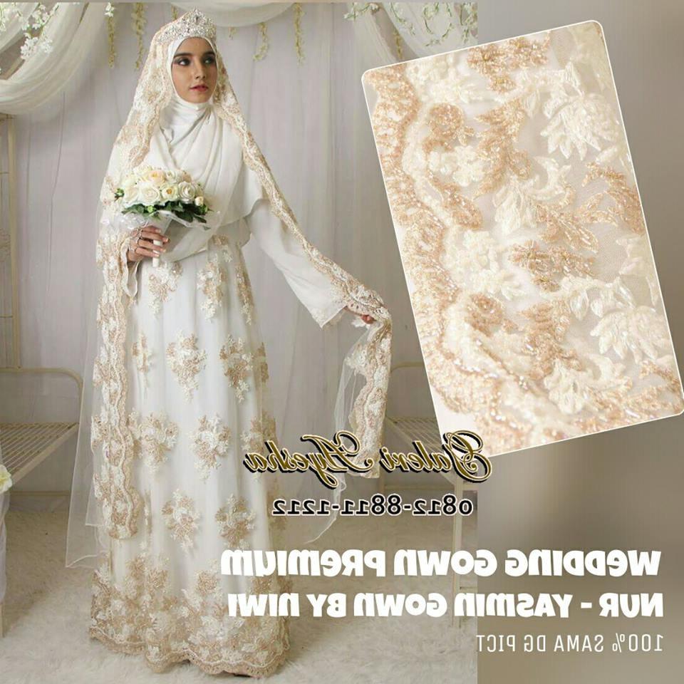 Design Baju Ke Pesta Pernikahan Muslimah Ipdd Baju Nikah Syar I Muslimah Modern Yasmin Wedding Gown by