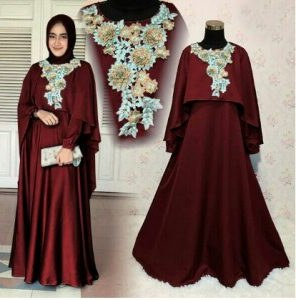 Design Baju Ke Pesta Pernikahan Muslimah O2d5 Model Baju Gamis Pesta Pernikahan 2017 Mawar