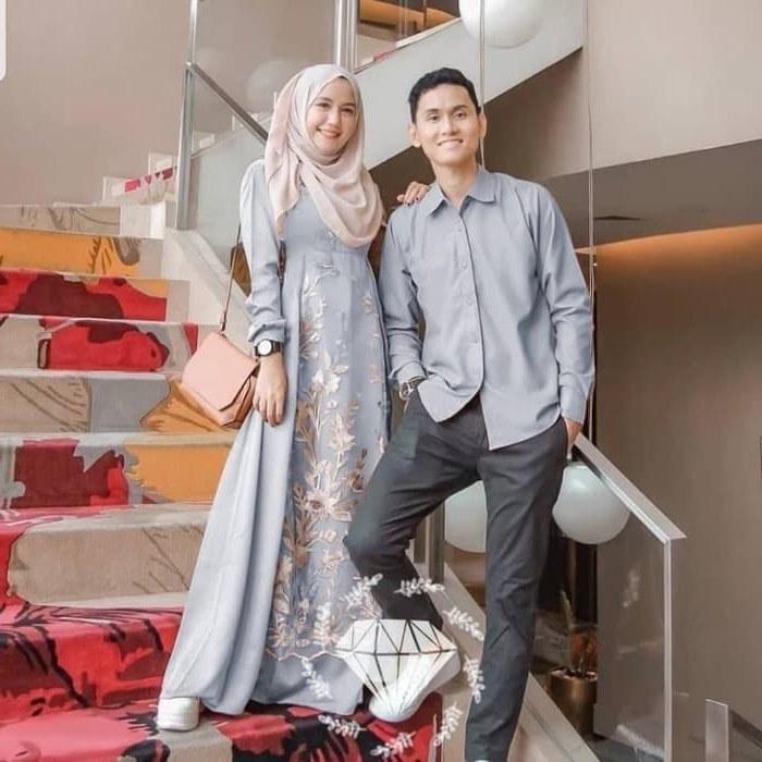 Design Baju Pengantin Muslim Couple Budm Jual Couple Muslim Couple Kondangan Od Erdo Baloteli Kombi Brukat Abu Abu Dki Jakarta Megumi Store