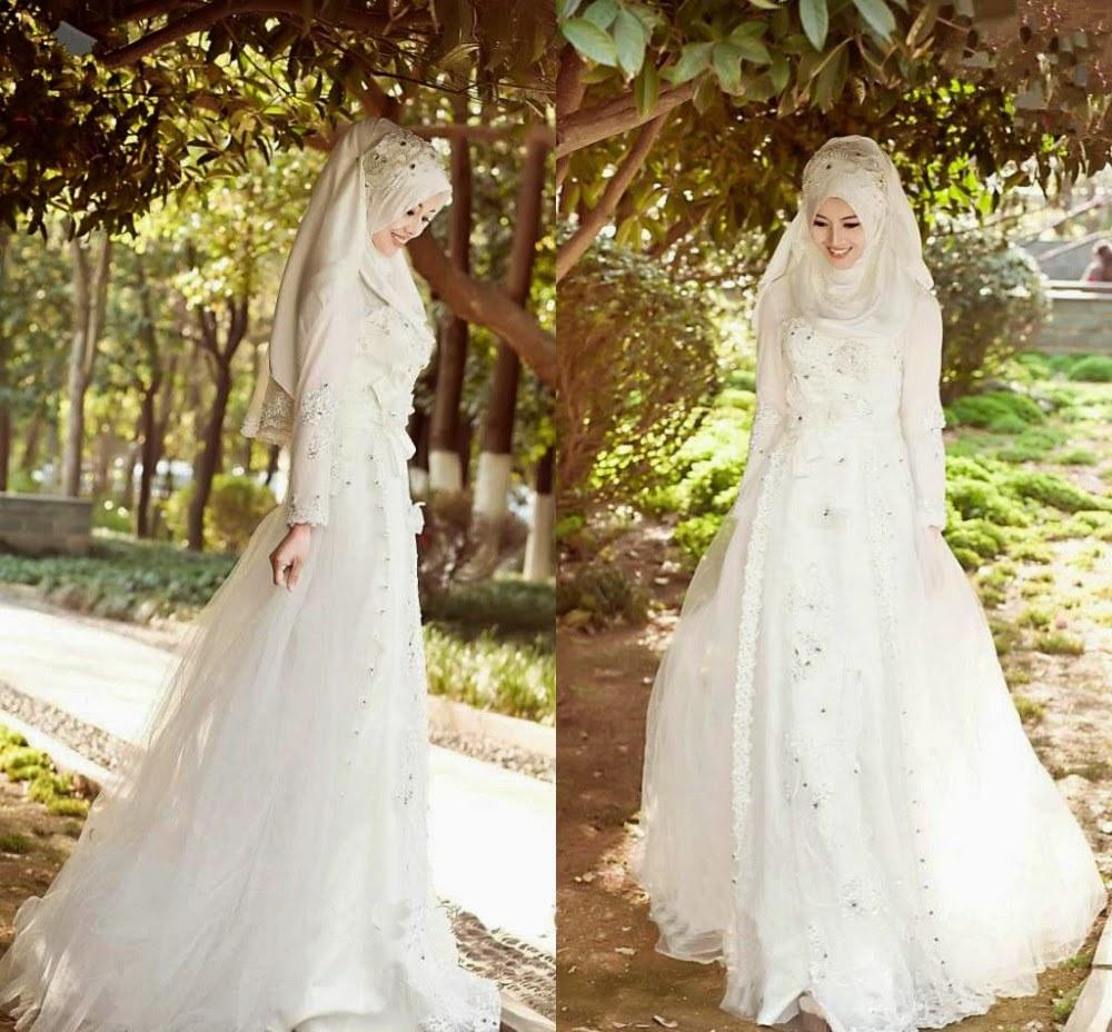 Design Baju Pengantin Muslim Sederhana D0dg 43 Inspirasi Terpopuler Baju Pengantin Muslim Sederhana Putih