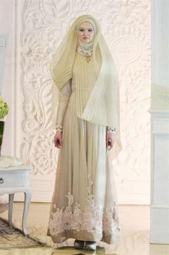 Design Baju Pengantin Muslim Terbaru Ipdd Irna La Perle