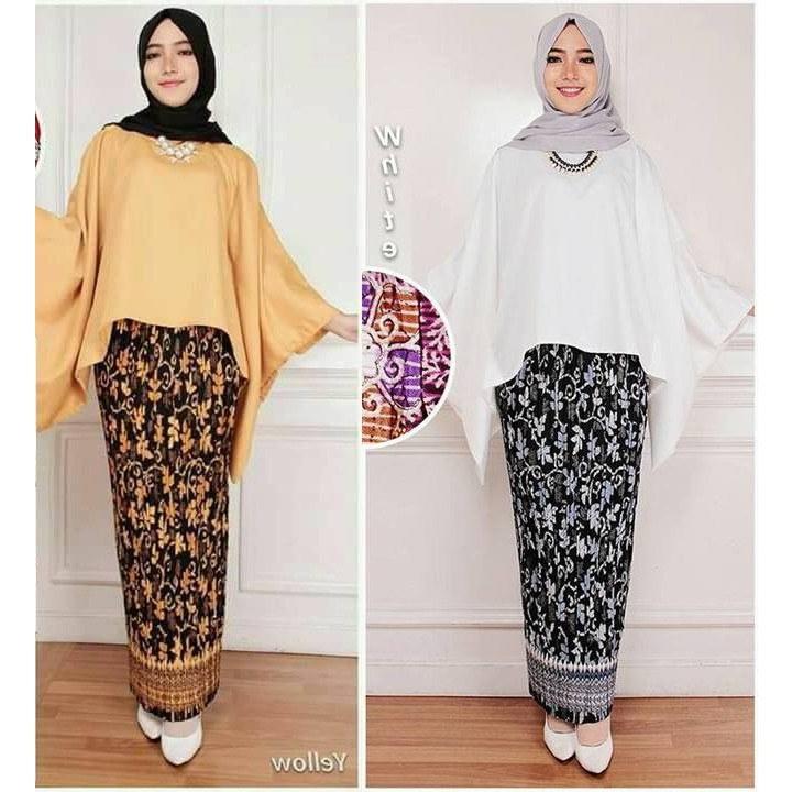 Design Baju Pengantin Muslim Untuk orang Gemuk S5d8 Model Kebaya Modern Set Batwing