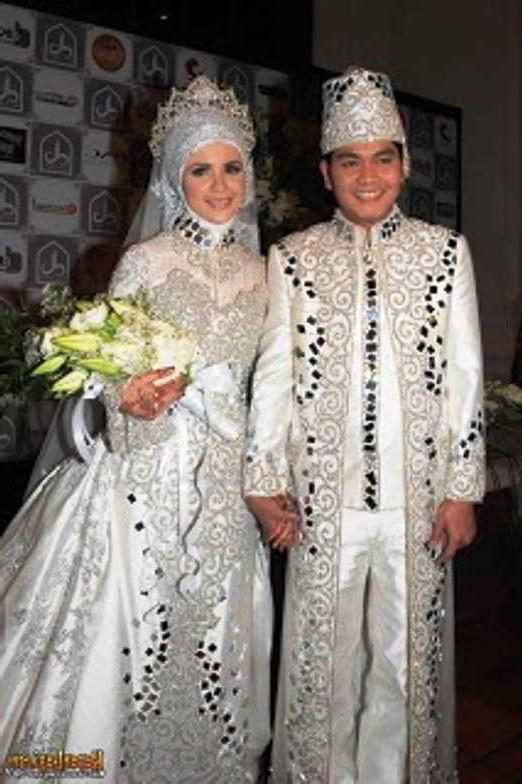 Design Baju Pengantin Muslim Untuk orang Gemuk Tqd3 Baju Pengantin Muslim Putih