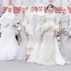 Design Baju Pengantin Muslimah 2017 Irdz 1921 Gambar Shabby Chic theme Wedding Terbaik Di 2019