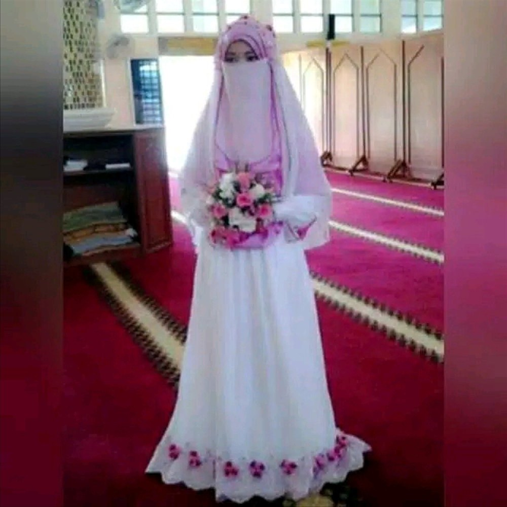 Design Baju Pengantin Muslimah Bercadar Ffdn Gaun Pengantin Muslimah