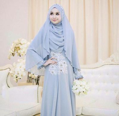Design Baju Pengantin Muslimah Bercadar Ipdd 10 Inspirasi Pilihan Gaun Pernikahan Muslim Syar I Yang Modern