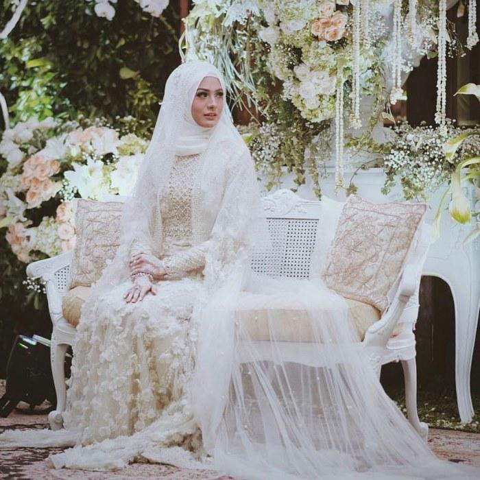 Design Baju Pengantin Muslimah Bercadar J7do 38 top Baru Gaun Pernikahan Wanita Bercadar