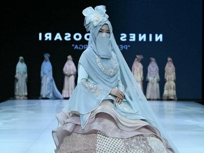 Design Baju Pengantin Muslimah Bercadar Kvdd Desainer Bandung Rilis Baju Pengantin Bercadar Dijual Rp 20