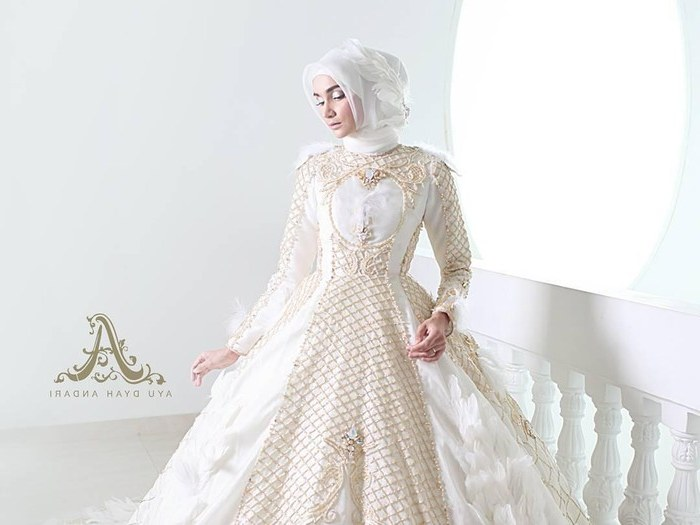 Design Baju Pengantin Muslimah Bercadar Mndw 8 Inspirasi Gaun Pengantin Muslimah Dari Artis Hingga