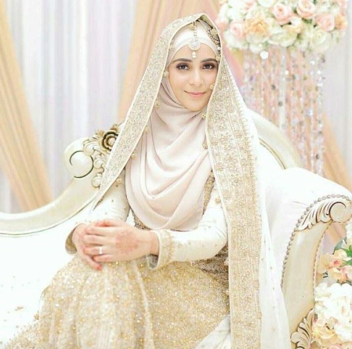 Design Baju Pengantin Muslimah Bercadar Mndw Baju Pengantin Bercadar