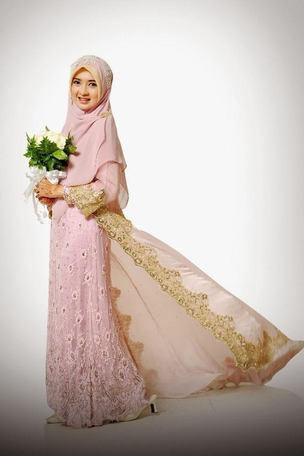 Design Baju Pengantin Muslimah Bercadar Nkde Kebaya Syar I Bercadar Paket Data C