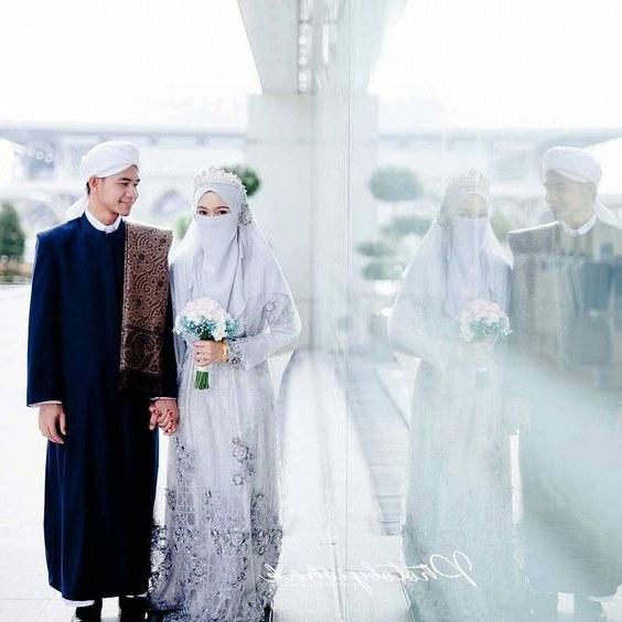 Design Baju Pengantin Muslimah Bercadar Zwdg Hakamy Hakamybs On Pinterest