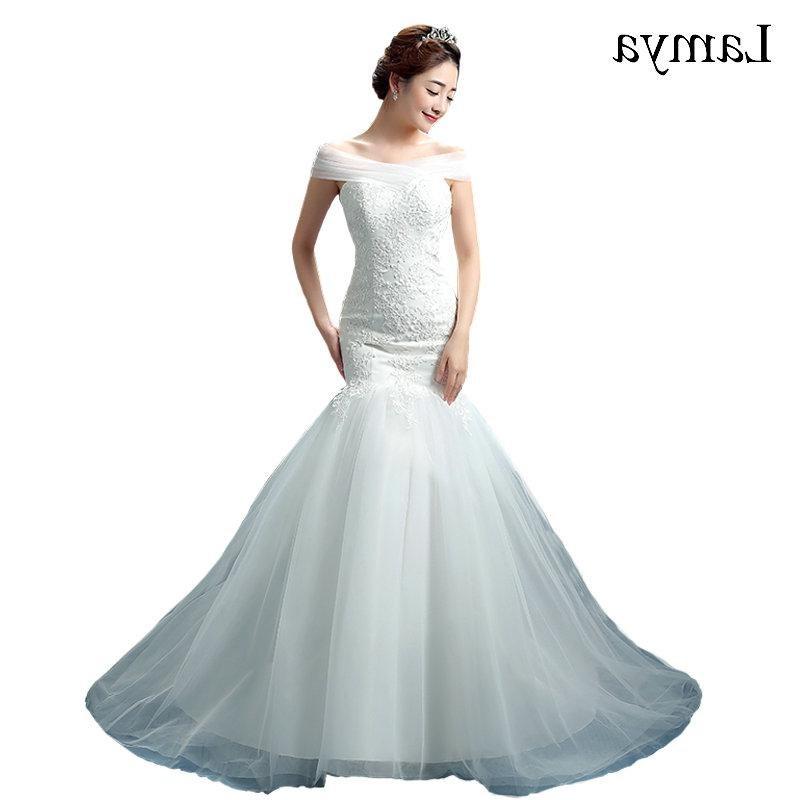 Design Baju Pengantin Muslimah Elegan Kvdd wholesale Lace Mermaid Vestido De Noiva 2018 Sweatheart Court Train Wedding Dress Fashionable Romantic Bridal Gown Wd3082