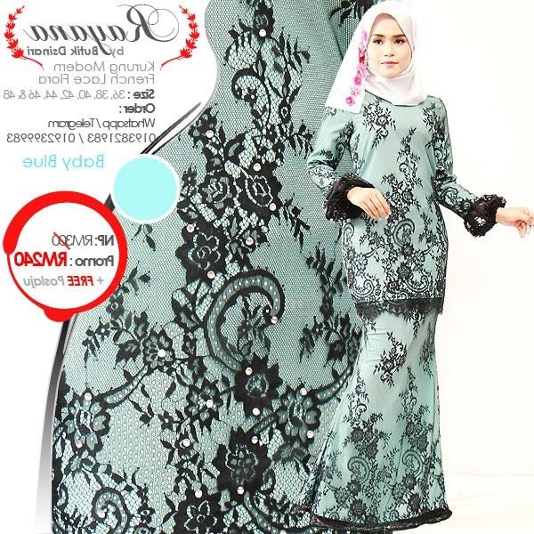 Design Baju Pengantin Muslimah Elegan Nkde Kurung Modern Lace Rayana