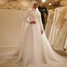 Design Baju Pengantin Muslimah Elegan T8dj Popular Elegant Muslim Wedding Dress Buy Cheap Elegant