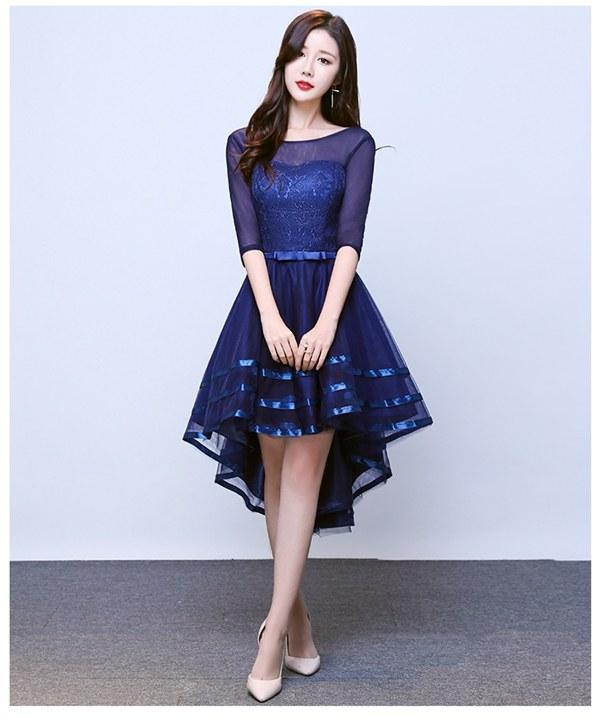 Design Baju Pengantin Muslimah Elegan X8d1 5 Colors Sleeveless Lace asymmetrical Dress