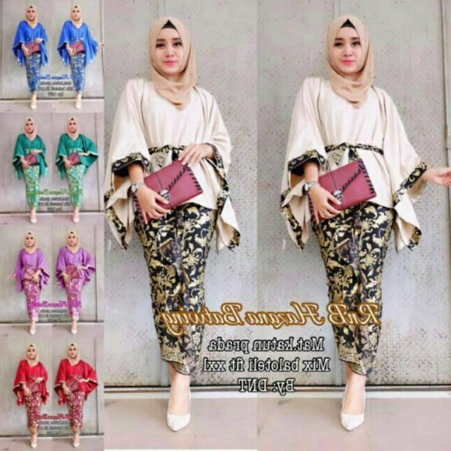 Design Baju Pengantin Muslimah Rabbani Xtd6 Setelan original Baju Wanita Kondangan atasan Jumbo Batik Wanita Rnb Hazana Batwing