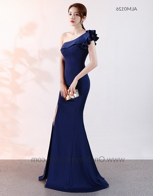 Design Baju Pengantin Muslimah Simple J7do 7 Colors E Shoulder Long evening Dress