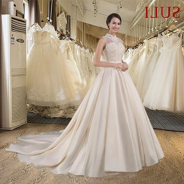 Design Foto Gaun Pengantin Muslimah Bqdd A Line Wedding Dresses 2017 Fresh Cheap Plus Size Wedding
