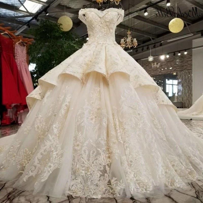 Design Foto Gaun Pengantin Muslimah Rldj Us $809 1 Off Modabelle Mewah F Harus Keringat Jantung Gaun Pengantin Beaded Vestido De Noiva Ruffles 3d Bunga Panjang Bridal Ball Gown 2018 Di