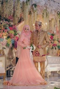 Design Gaun Pasangan Pengantin Muslim Ftd8 Pinterest