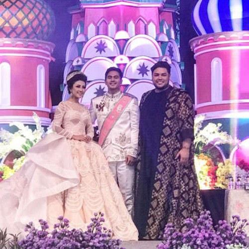 Design Gaun Pasangan Pengantin Muslim T8dj Pernikahan Mewah Bertema Princess Pengantin Wanita