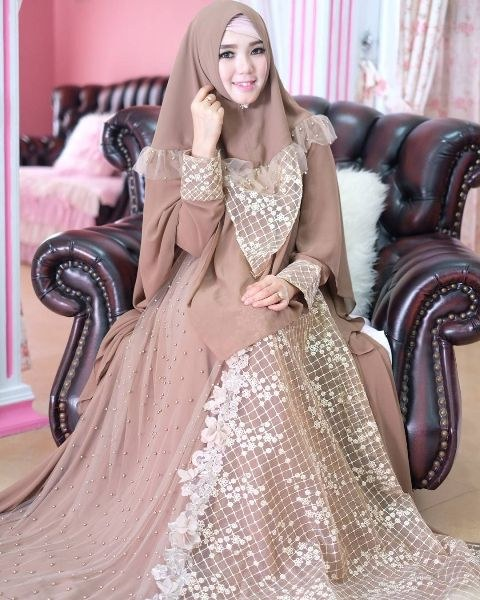 Design Gaun Pasangan Pengantin Muslim Tqd3 √ 18 Model Baju Pesta Muslim 2020 Edisi Gaun Pesta
