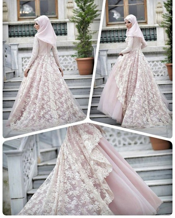 Design Gaun Pengantin Brokat Muslim Wddj 30 Model Gamis Pengantin Brokat Fashion Modern Dan