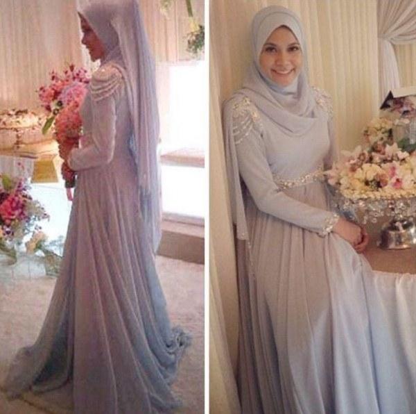 Design Gaun Pengantin Brokat Muslimah Etdg 38 top Inspirasi Gaun Nikah Muslimah Simple