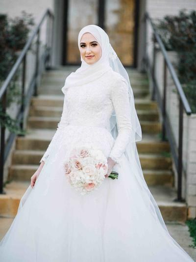 Design Gaun Pengantin Brokat Muslimah Ftd8 Jadi Ratu Sehari 5 Inspirasi Gaun Pengantin Berhijab Yang
