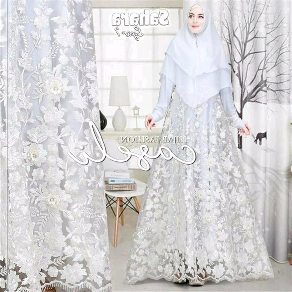 Design Gaun Pengantin Brokat Muslimah Ipdd Gamis Syari Brokat 3d Full Sahara by Caseli Hijab Jilbab Gaun Pengantin Maxi Dress Pesta Wisuda Kebaya Kutubaru Hantaran Nikah Baju Muslim