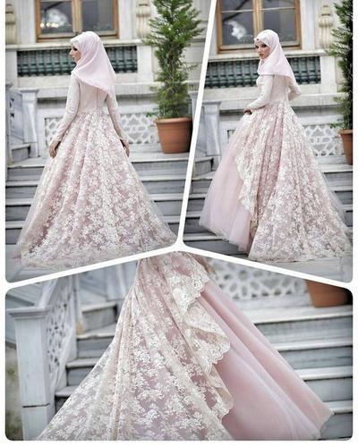Design Gaun Pengantin Brokat Muslimah Irdz Model Gaun Pengantin Muslimah Yang Diprediksi Bakal Tren 2019