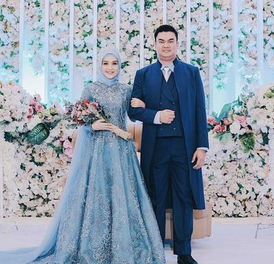 Design Gaun Pengantin Brokat Muslimah O2d5 Cantik Dan Elegan 5 Warna Gaun Pengantin Wanita Berhijab