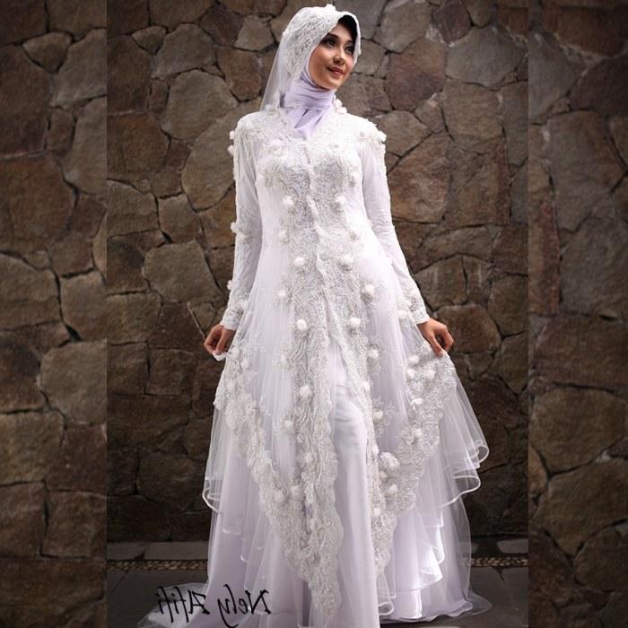 Design Gaun Pengantin Brokat Muslimah Rldj 24 Gaun Pengantin Muslimah Sederhana Tapi Modern
