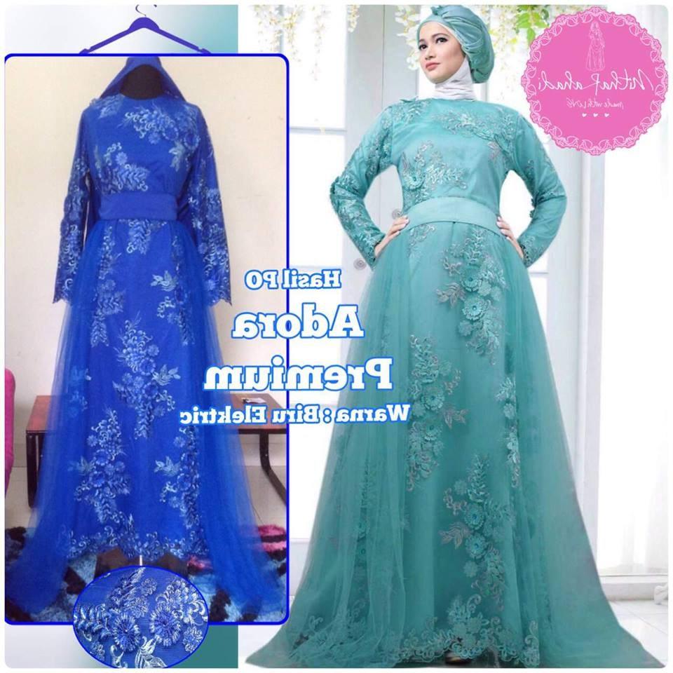 Design Gaun Pengantin Brokat Muslimah Thdr Gamis Pesta Akhwat Gamis Pesta islami Gamis Pesta Murah