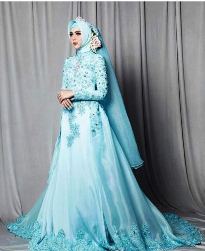 Design Gaun Pengantin Brokat Muslimah Tqd3 24 Gaun Pengantin Muslimah Sederhana Tapi Modern
