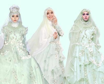 Design Gaun Pengantin Brokat Muslimah Xtd6 Inspirasi Gaun Pengantin Muslim Cantik Dan Elegan Untuk