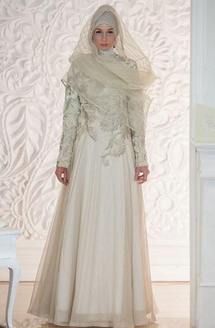 Design Gaun Pengantin Brokat Muslimah Y7du 26 Inspirasi Terbaru Gaun Pengantin Duyung Muslim