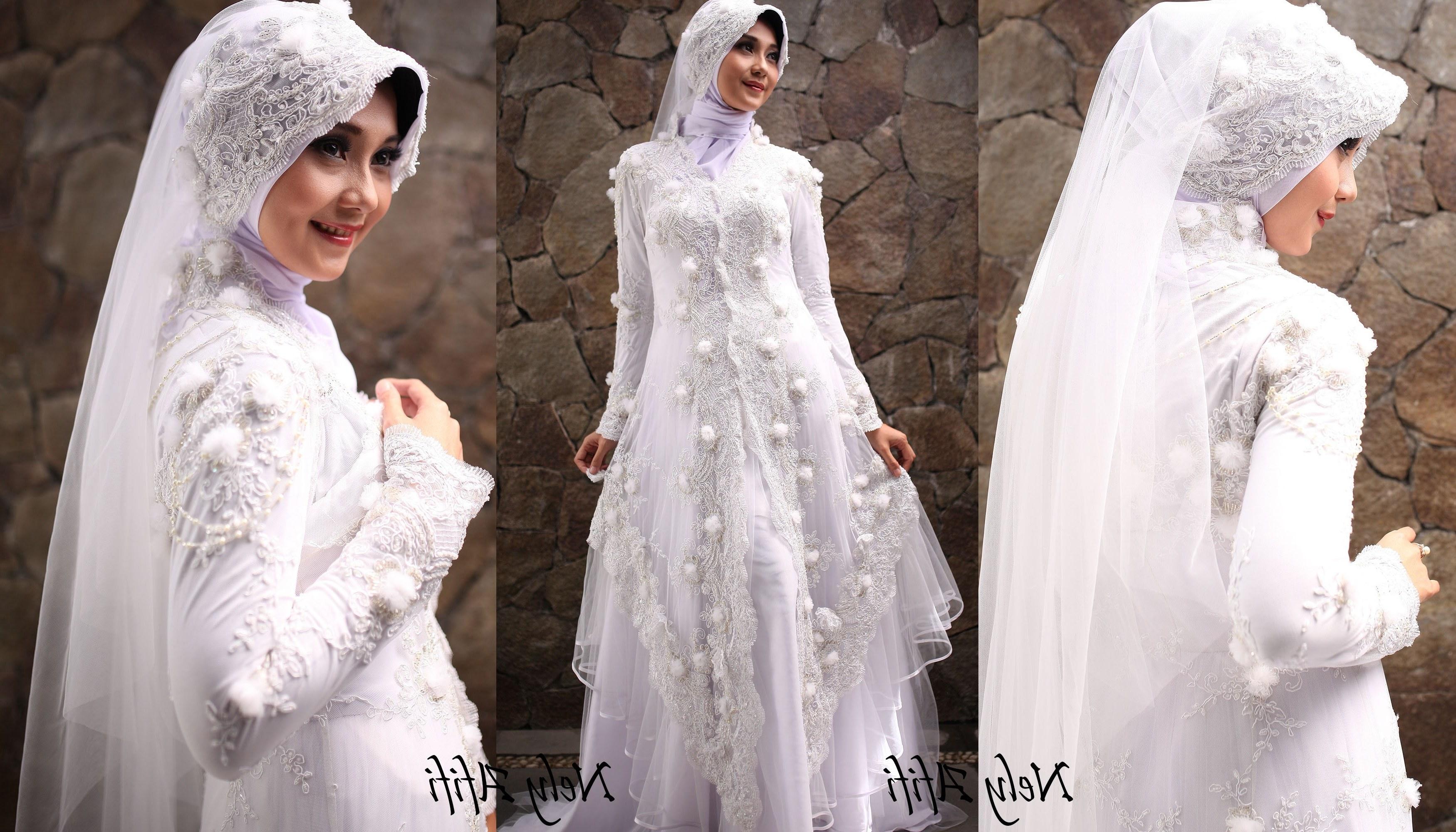 Design Gaun Pengantin Muslim Cantik 9fdy Foto Wanita Bercadar Modern Cantik Gaun Pengantin Muslimah