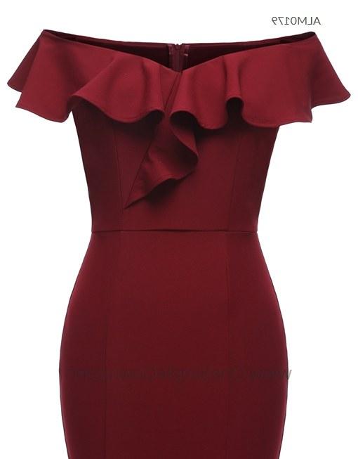 Design Gaun Pengantin Muslim Cantik Tldn 3 Colors F Shoulder Draping evening Dress