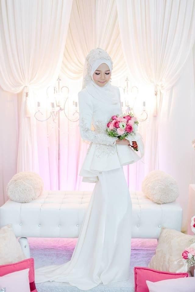 Design Gaun Pengantin Muslim Cantik Zwd9 Nurul Zaitulalqalb On Pinterest