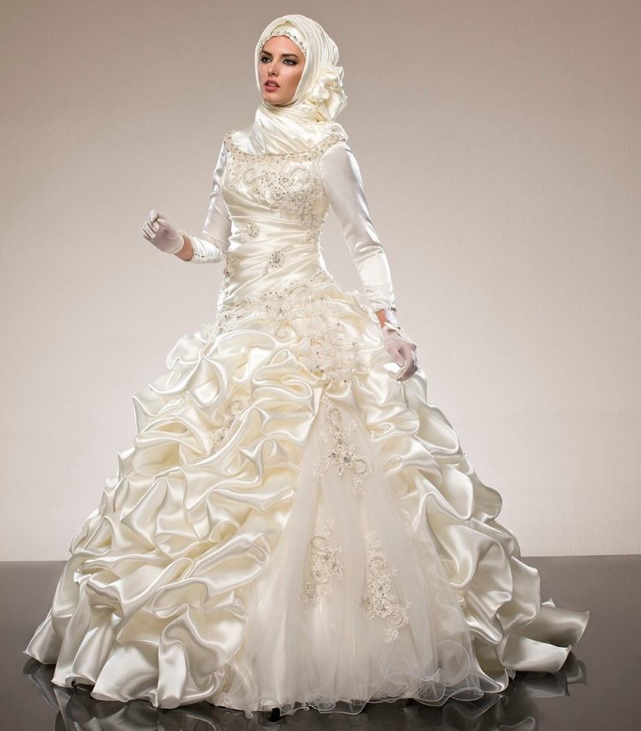 Design Gaun Pengantin Muslimah 2018 Bqdd Us $266 0 Arab Saudi Muslim Lengan Panjang Gaun Bola Vestido De Noiva Ruffles Manik Manik Kristal Gaun Pengantin 2018 Ibu Dari Pengantin Wanita