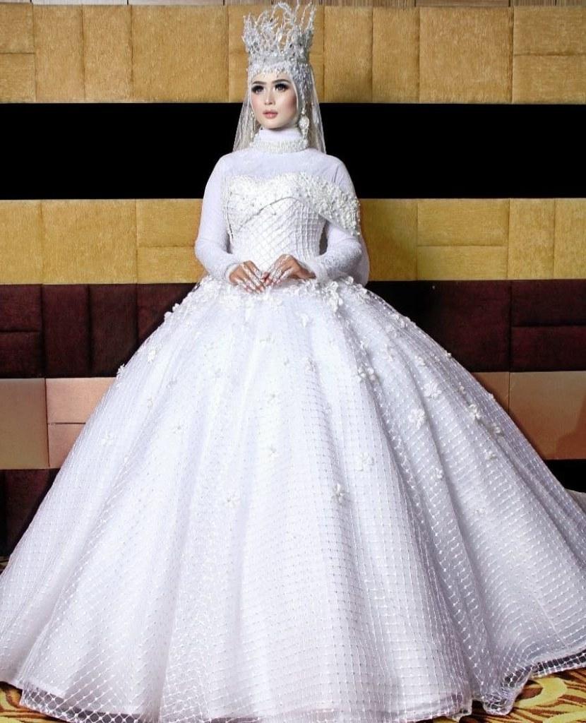 Design Gaun Pengantin Muslimah 2018 Dwdk Caca Gown Dressmaker Gaun Pengantin Spesialis Ball Gown