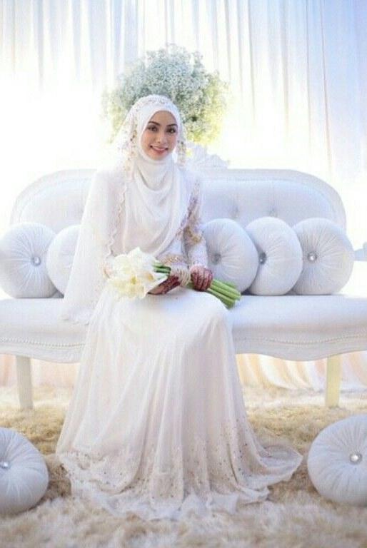 Design Gaun Pengantin Muslimah 2018 Fmdf Menikah Dibalut Kesederhanaan Gaun Putih Apalagi Dengan