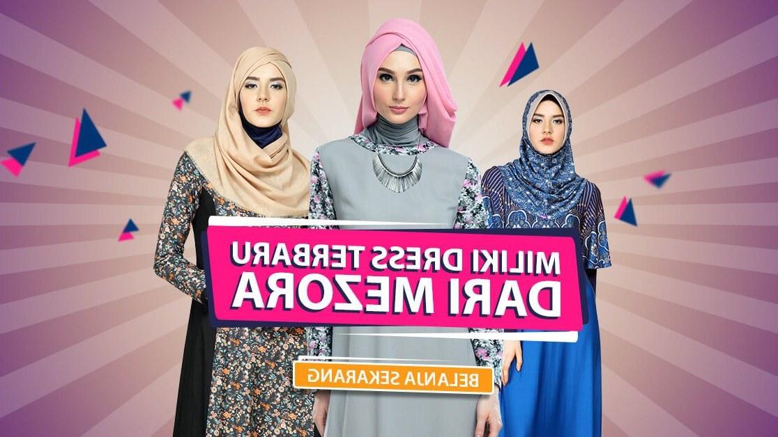 Design Gaun Pengantin Muslimah Biru 3id6 Dress Busana Muslim Gamis Koko Dan Hijab Mezora