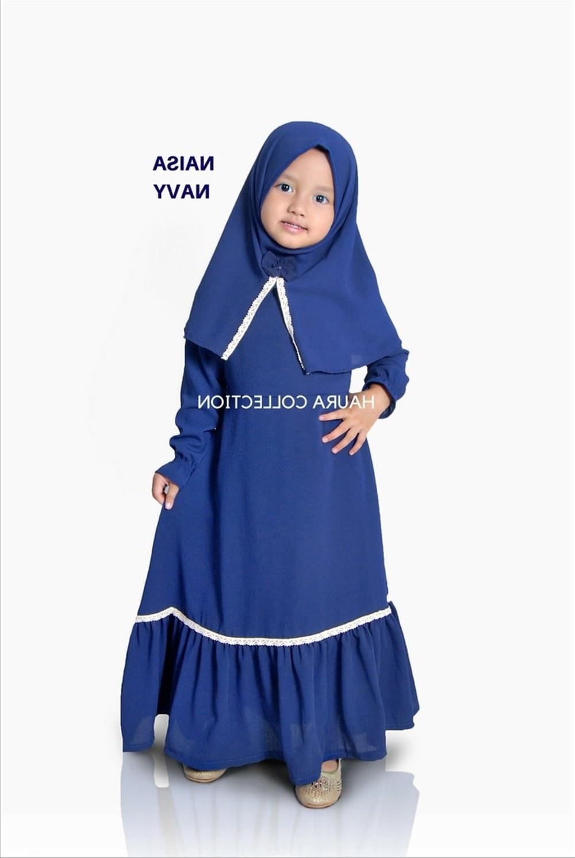 Design Gaun Pengantin Muslimah Biru Dddy Bayi